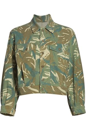 Mother Women's The Fly Away Jacket - Tropical Camo - Size XS
