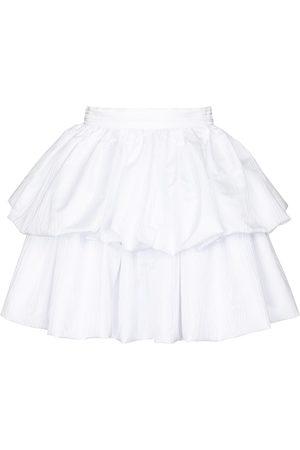 ROTATE Carmina tiered taffeta miniskirt