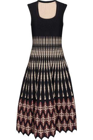 Alaïa Jacquard knit midi dress