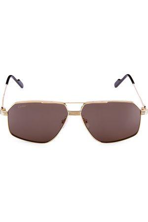 Cartier Women's Core Range 61MM Pilot Sunglasses