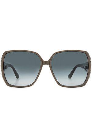 Jimmy Choo Women's Cloe 62MM Square Glitter Sunglasses - Grey