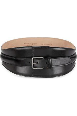 Alexander McQueen Women's Corset Leather Belt - - Size Small