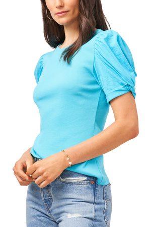 1.STATE Women T-shirts - Women's Puff Sleeve Rib Knit T-Shirt