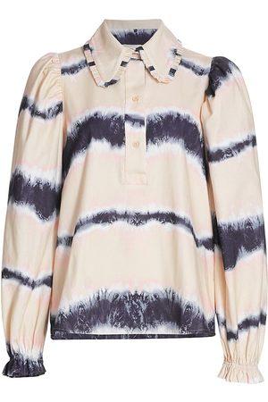 Munthe Women's Tresco Puff-Sleeve Print Blouse - Sand - Size 2