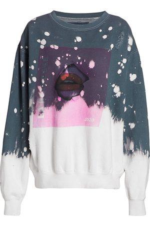 LA DETRESSE Women's Acid Drop Graphic Sweatshirt - Charcoal - Size Medium