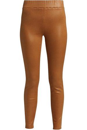 L'Agence Women's Rochelle High-Rise Coated Leggings - Hazelnut Coated - Size XS
