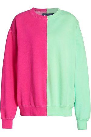 LA DETRESSE Women's Half Half Sweatshirt - - Size Medium
