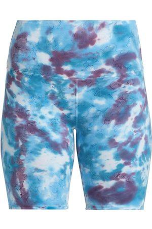 LA DETRESSE Women Sports Shorts - Women's Tropicali Tie-Dye Bike Shorts - Tie Dye - Size Medium