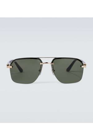 CARTIER EYEWEAR Frameless aviator sunglasses