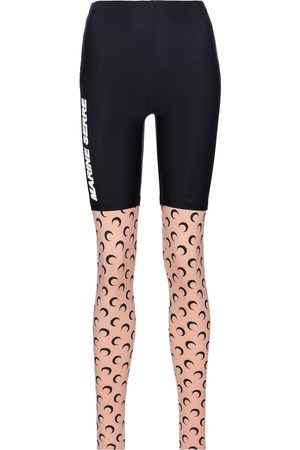 Marine Serre Exclusive to Mytheresa – Printed stretch-jersey leggings