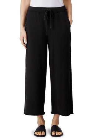 Eileen Fisher Women's Wide-Leg Cropped Pants - - Size Large