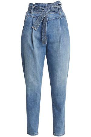 A.L.C. Women's Davis Paperbag Pants - Medium Indigo - Size 10