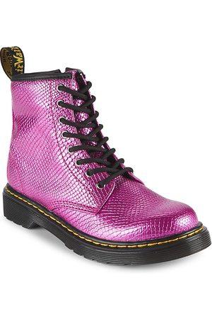 Dr. Martens Girl's Grade School 1460 Metallic Reptile Embossed Combat Boots - - Size 4 (Child)