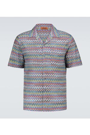 Missoni Zig-zag short-sleeved bowling shirt