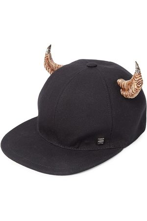Givenchy Men's Horn Canvas Flat Cap - Natural
