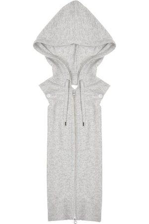 Veronica Beard Women's Uptown Merino Wool & Cashmere Hooded Dickey - Grey