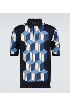 Dolce & Gabbana Silk intarsia short-sleeved polo