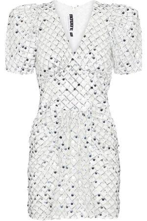 ROTATE Alma metallic midi dress