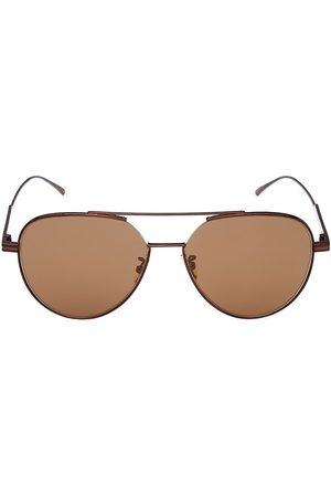 Bottega Veneta Men Sunglasses - Men's Minimalist 59MM Pilot Sunglasses