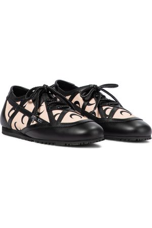 Jimmy Choo Exclusive to Mytheresa – x Marine Serre printed leather-trimmed sneakers
