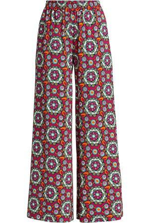 La DoubleJ Women's Tile Print Palazzo Pants - Kaleidoscope Fuxia - Size XS