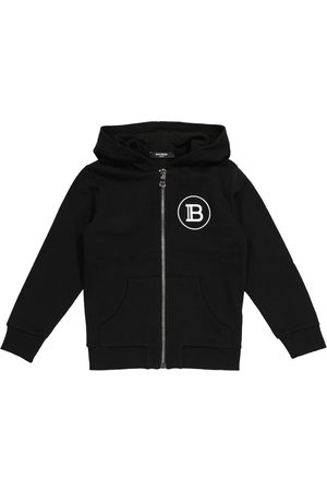 Balmain Logo cotton hoodie