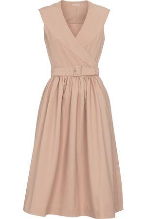 Alaïa Belted cotton midi dress