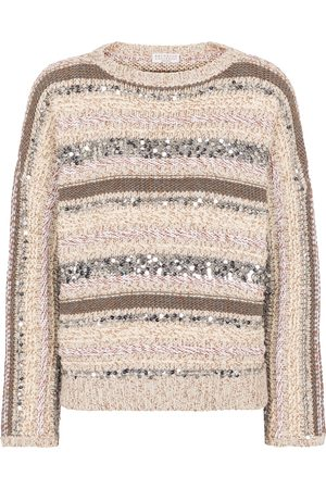 Brunello Cucinelli Sequined cotton sweater