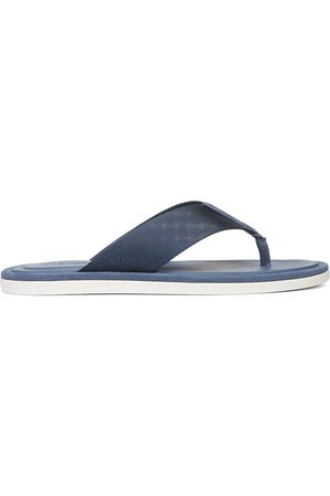 Vince Men's Dean 2 Leather Flat Thong Sandals - Malibu Wate - Size 9