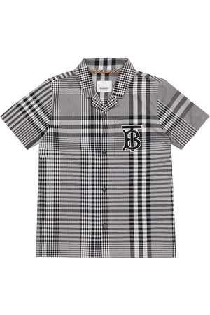 Burberry Logo checked cotton poplin shirt