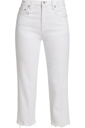 R13 Women's Shelley Slim-Fit Raw-Hem Jeans - Bale - Size Denim: 28