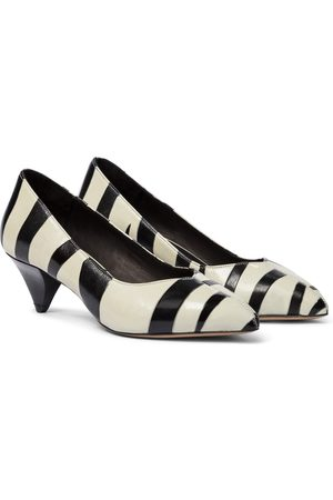 Isabel Marant Poomi zebra-print leather pumps