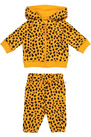 Stella McCartney Baby cheetah-print cotton jersey tracksuit