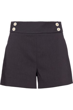 VERONICA BEARD Kimm linen and wool-blend shorts