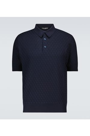 Dolce & Gabbana Silk jacquard short-sleeved polo