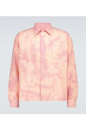 ERL Cropped checked shirt