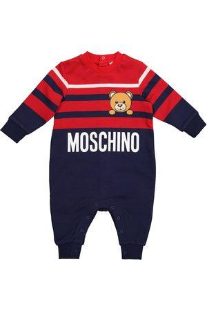 Moschino Baby striped stretch-cotton onesie