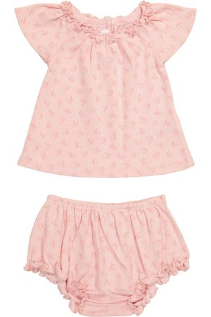 BONPOINT Baby cotton top and bloomers set