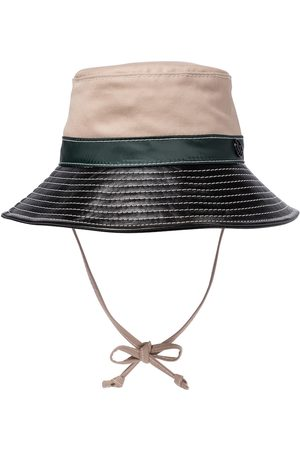 Le Mont St Michel Angele canvas and leather bucket hat