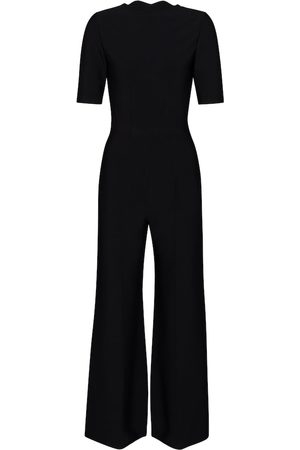 Alaïa Stretch-knit flared jumpsuit