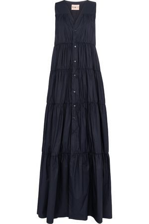 Plan C Sleeveless cotton maxi dress