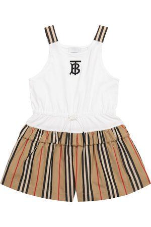 Burberry Icon Stripe cotton playsuit