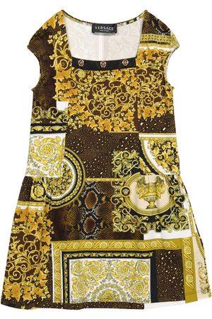 VERSACE Barocco Patchwork stretch-cotton dress