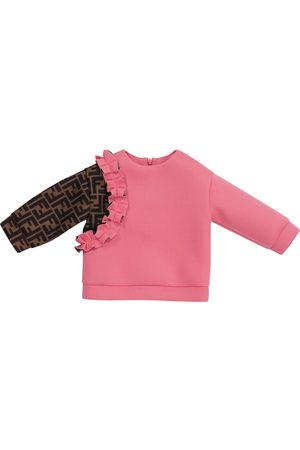 Fendi Baby FF ruffled sweatshirt