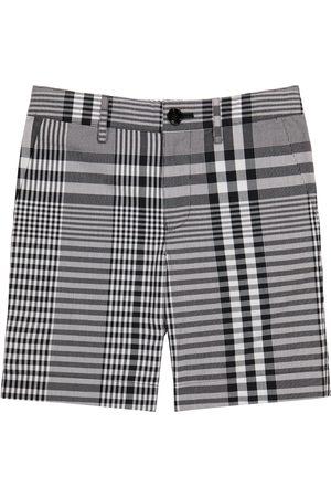 Burberry Checked cotton poplin shorts