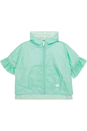 Il gufo Ruffle-trimmed raincoat