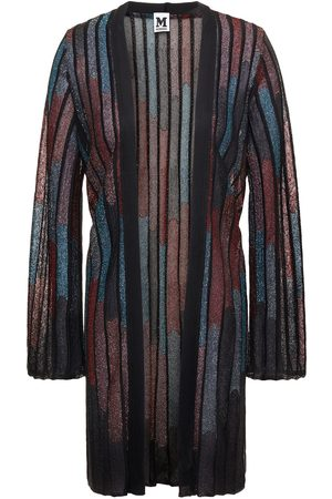 M Missoni Women Cardigans - Woman Metallic Ribbed Crochet-knit Cardigan Size 38