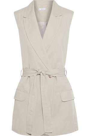 IRIS & INK Woman Ebrill Belted Tencel Linen And Cotton-blend Twill Vest Size 10