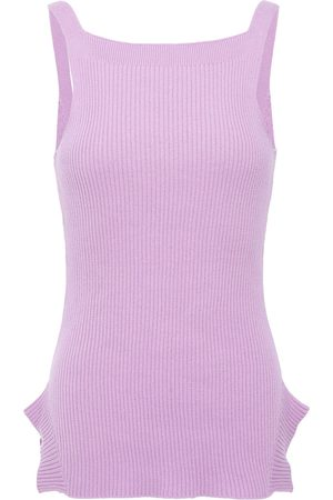 Each x Other Woman Riribbed Cotton Tank Lilac Size L