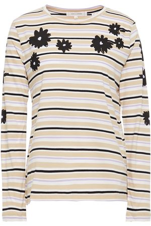 Chinti & Parker Woman Printed Cotton-jersey Top Sand Size L